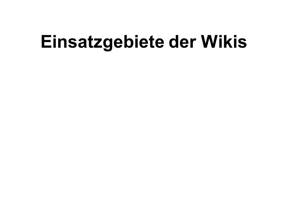 Einsatzgebiete der Wikis
