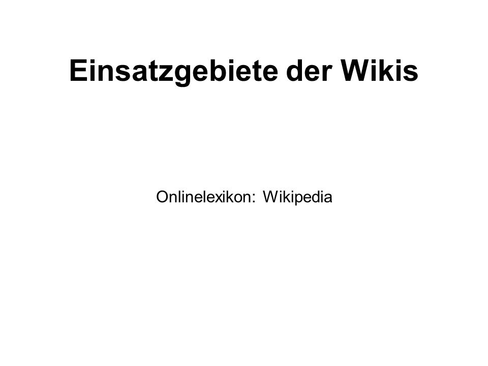 Onlinelexikon: Wikipedia