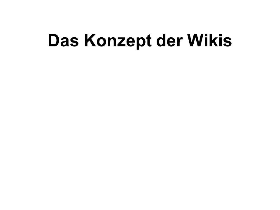 Das Konzept der Wikis