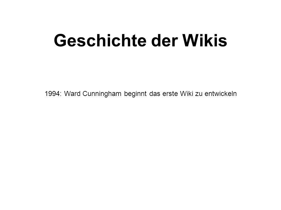 Geschichte der Wikis 1994: Ward Cunningham beginnt das erste Wiki zu entwickeln