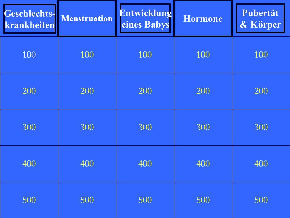 200 300 400 500 100 200 300 400 500 100 200 300 400 500 100 200 300 400 500 100 200 300 400 500 100 Geschlechts- krankheiten Menstruation Pubertät & K