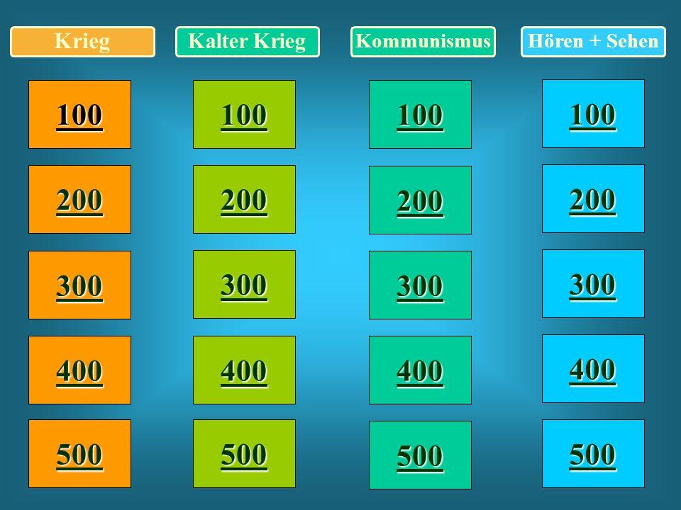 Kalter Krieg 300 Ordne den folgenden Gesichtern die richtigen Namen zu.