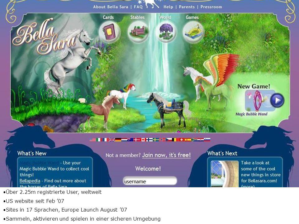 Über 2.25m registrierte User, weltweit US website seit Feb 07 Sites in 17 Sprachen, Europe Launch August 07 Sammeln, aktivieren und spielen in einer s