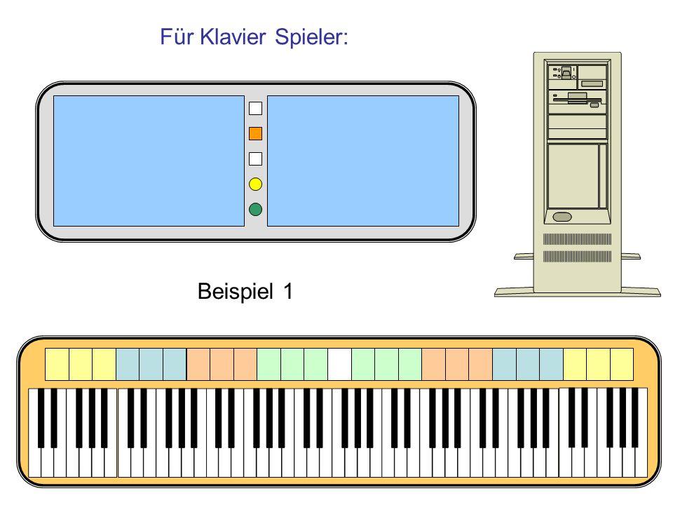 Für Klavier Spieler: Beispiel 1