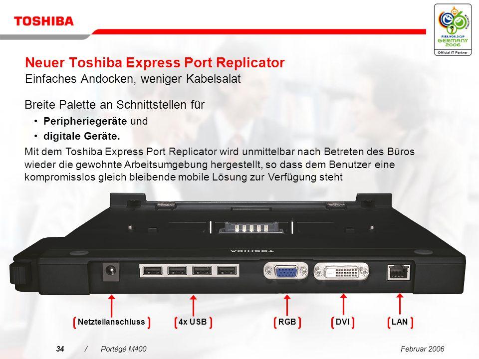 Februar 200633/Portégé M400 Toshiba Summit Effiziente kabellose Konferenzfunktionen – einschließlich gemeinsamer Dateinutzung und Chatfunktion zur Steigerung der Produktivität …Intuitiver Einsatz Sie können Ihren Kollegen über einen virtuellen Konferenzraum Zugriff auf Ihre Datei verschaffen.