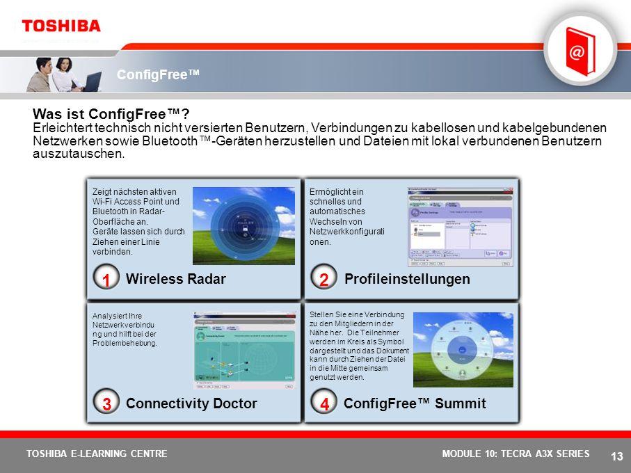 12 TOSHIBA E-LEARNING CENTREMODULE 10: TECRA A3X SERIES Toshiba Timer-Diebstahlschutz Was ist die Toshiba Timer-Diebstahlsicherung? Ermöglicht Benutze