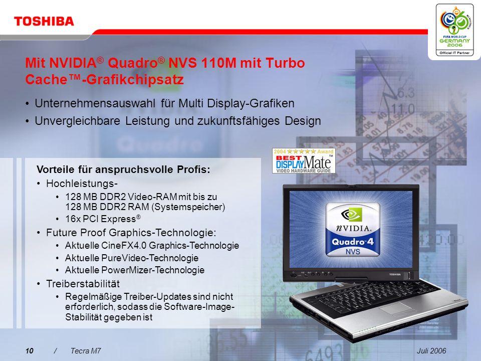 Juli 20069/Tecra M7 Brillantes Display für gesteigerte Produktivität Das außergewöhnliche 14,1