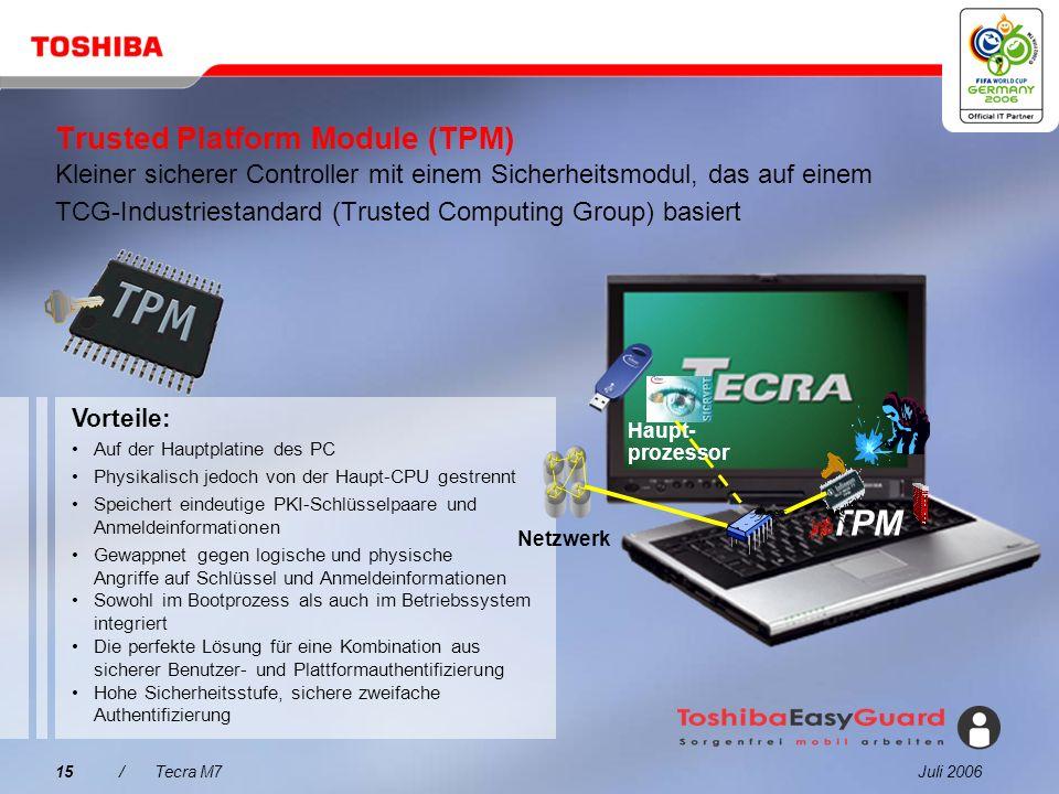 Juli 200614/Tecra M7 Fingerabdruckleser Single Sign-On Benutzerauthentifizierung Sicherer Zugriff (Single Sign-On), Auswahl, Start und Steuerung von A