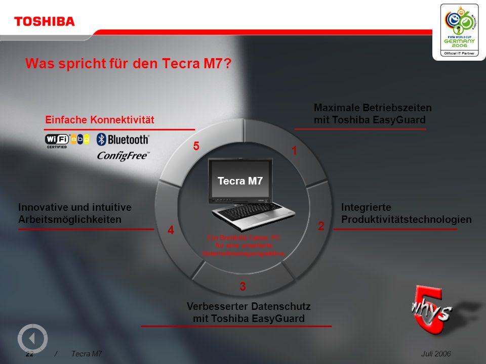Juli 200621/Tecra M7 Dokumente mit Digital Ink mit Anmerkungen versehen und neue Ideen skizzieren Der Tecra M7 is the ist ein ideales Werkzeug für Bra