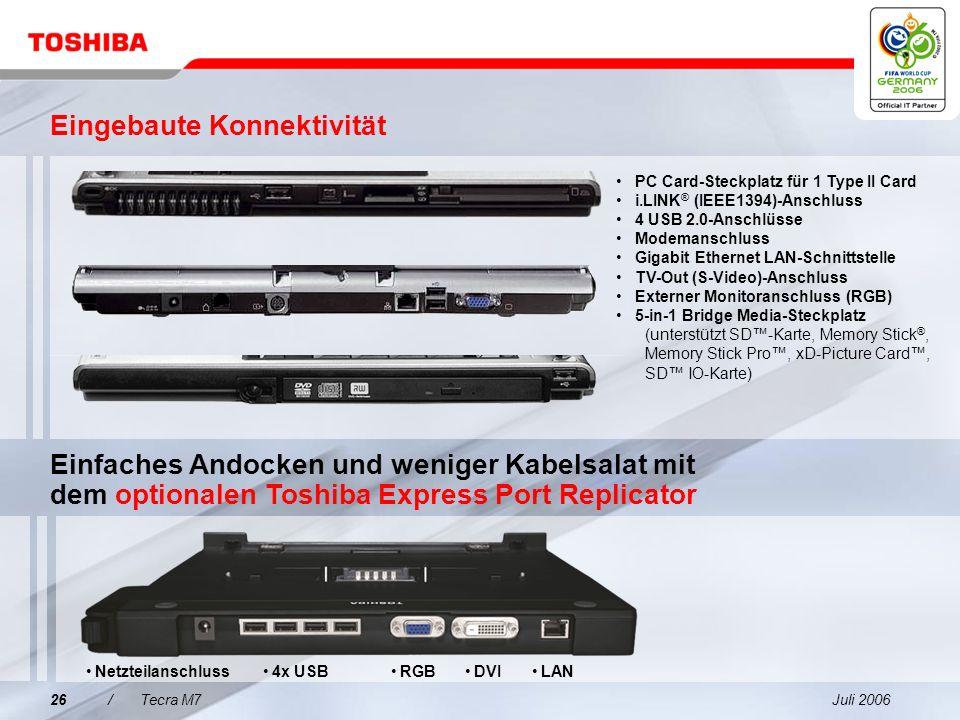 Juli 200625/Tecra M7 Toshiba Summit Effiziente kabellose Konferenzfunktionen–einschließlich gemeinsamer Dateinutzung und Chatfunktion zur Steigerung d