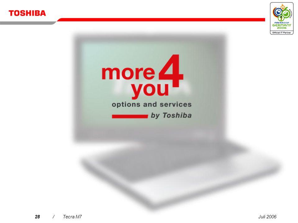Juli 200627/Tecra M7 Allgemeine Spezifikationen: Tecra M7 Prozessor/Technologie: Intel ® Centrino ® -Mobiltechnologie mit Intel ® Core Duo-Prozessor T