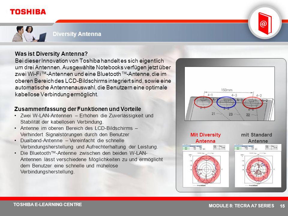 # 14 TOSHIBA E-LEARNING CENTRE MODULE 8: TECRA A7 SERIES Toshiba Summit …Intuitiver Einsatz Sie können Ihren Kollegen über einen virtuellen Konferenzr