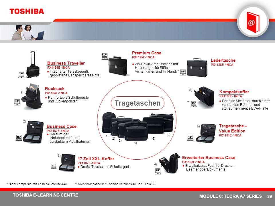 # 38 TOSHIBA E-LEARNING CENTRE MODULE 8: TECRA A7 SERIES Notebookhalterung Ergo-T340 PX1192E-1PRP Positioniert den Notebookbildschirm ergonomisch Einz