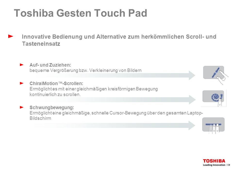 Toshiba Festplattenschutz Der Festplattenschutz schützt vor Erschütterungen, Vibrationen und weiteren Gefahren und minimiert so das Datenverlustrisiko Die 3D-Bewegungsüberwachung des integrierten Beschleunigungssensors BetriebszustandArretiert Festplattenkopf wird entlastet
