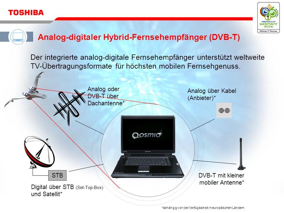 Mai 200611 / Qosmio G30 HD DVD Der Qosmio G30 verfügt über ein 17 -Breitformat- Display mit Toshiba TruBrite ® - Technologie für faszinierend farbechte, lebendige Bilder.