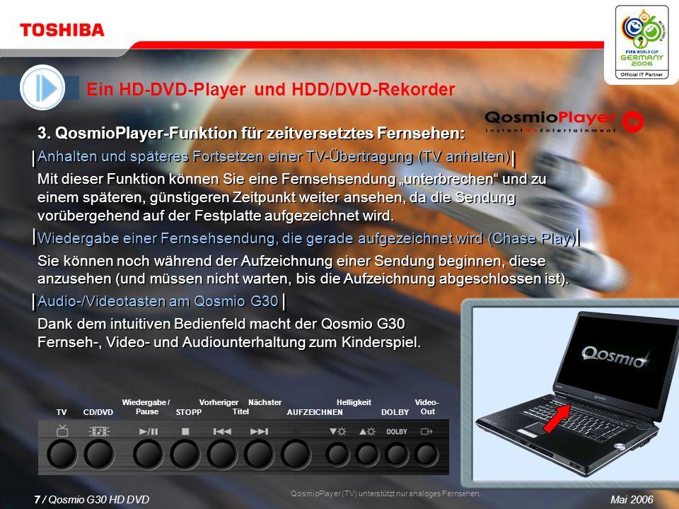 Mai 20066 / Qosmio G30 HD DVD 1.