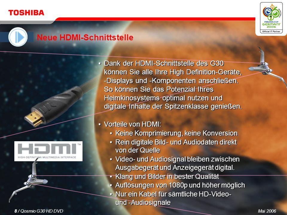 Mai 20067 / Qosmio G30 HD DVD 3.