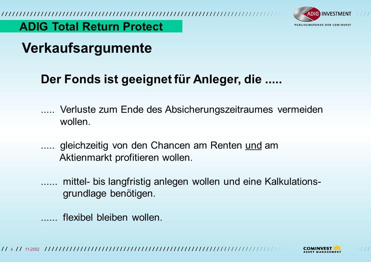 11-20024 HIER STEHT DER FOLIENTITEL Verkaufsargumente Der Fonds ist geeignet für Anleger, die..........