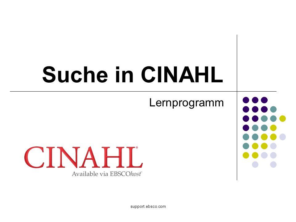 support.ebsco.com Suche in CINAHL Lernprogramm