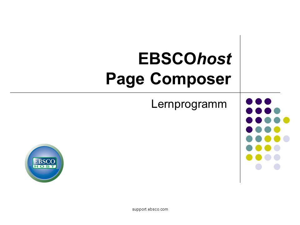 support.ebsco.com EBSCOhost Page Composer Lernprogramm