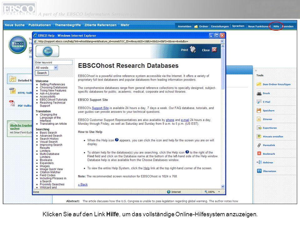 Weitere Informationen erhalten Sie auf der EBSCO-Kundensupportwebsite unter http://support.ebsco.com