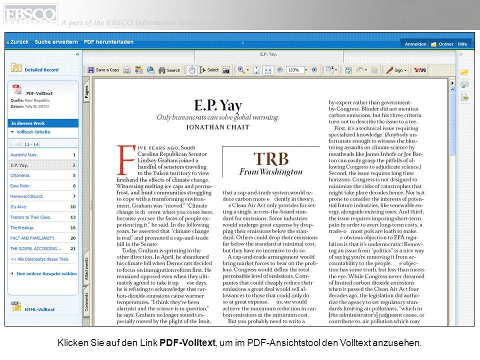 Klicken Sie auf den Link PDF-Volltext, um im PDF-Ansichtstool den Volltext anzusehen.