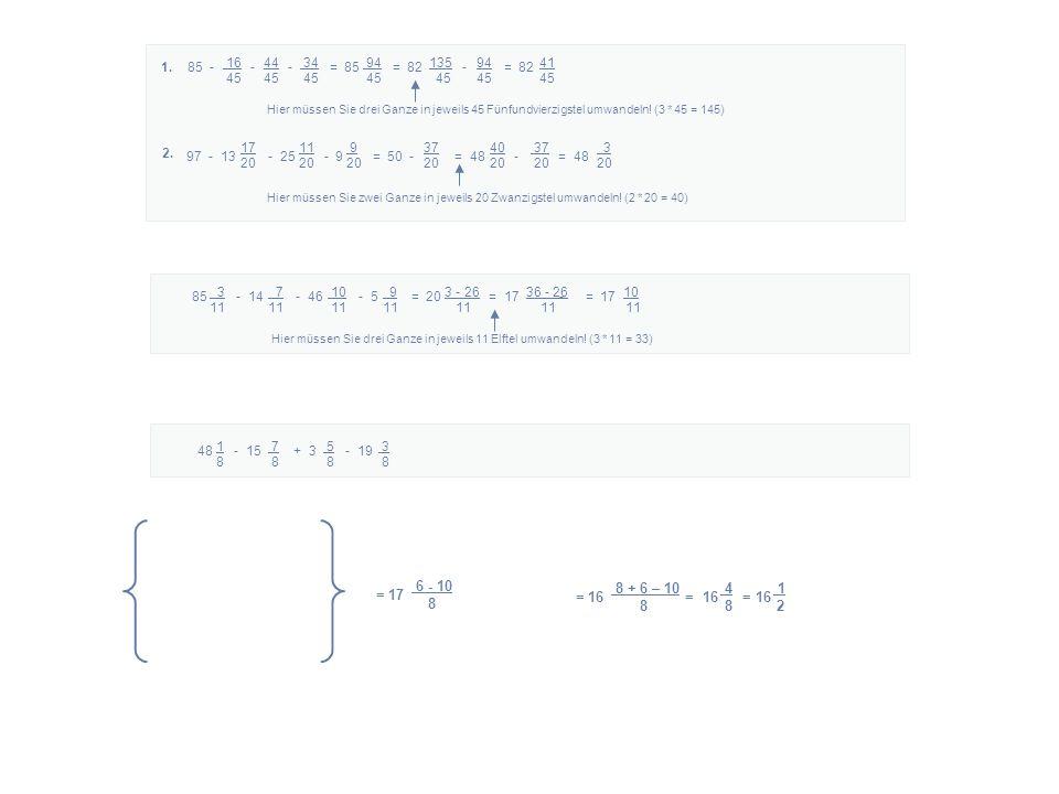 16 44 34 94 135 94 41 45 45 45 45 45 45 45 85 - - - = 85 = 82 - = 821.
