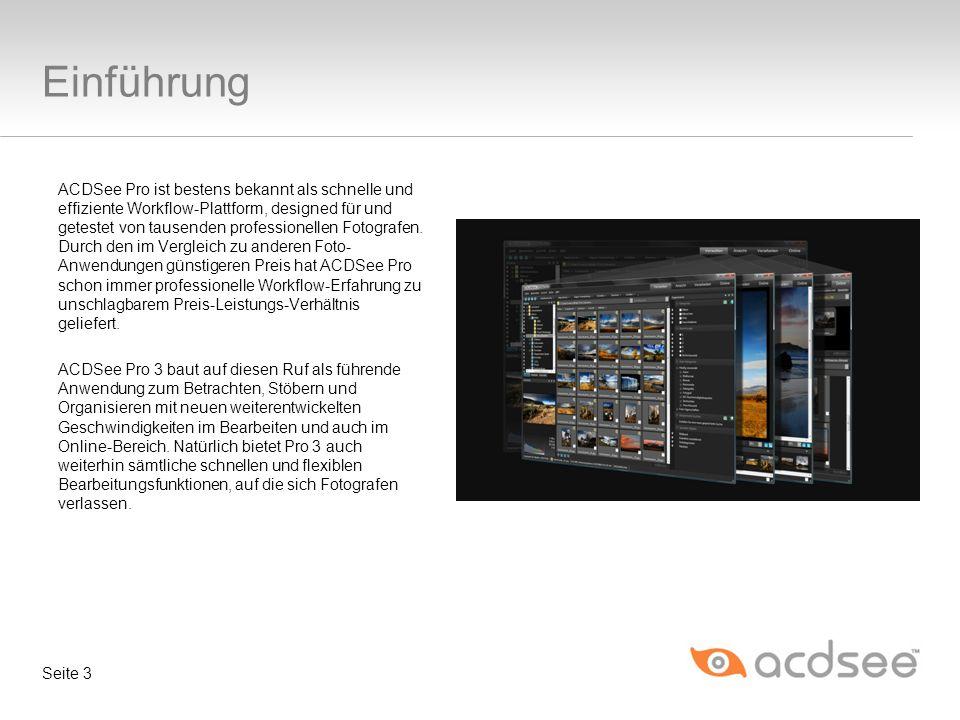 ACDSee Pro ist bestens bekannt als schnelle und effiziente Workflow-Plattform, designed für und getestet von tausenden professionellen Fotografen.