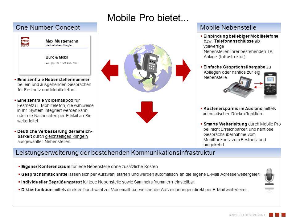 © SPEECH DESIGN GmbH Flexibilität Vorteile auf einen Blick...