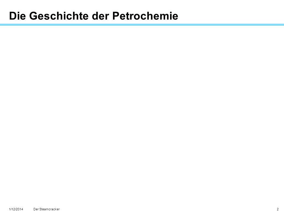 1/12/2014 2 Die Geschichte der Petrochemie Der Steamcracker
