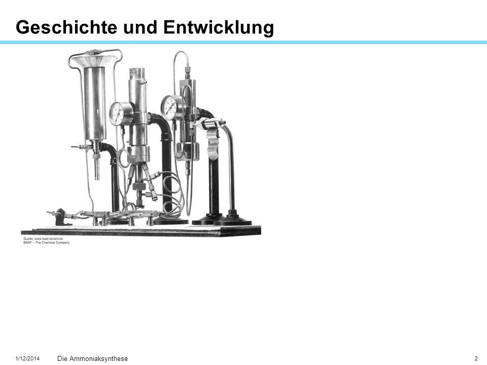1/12/2014 Die Ammoniaksynthese 2 Geschichte und Entwicklung