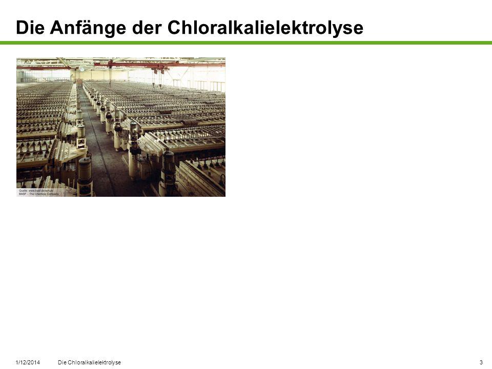 1/12/2014 Die Chloralkalielektrolyse 14 Aufbereitung des Chlors