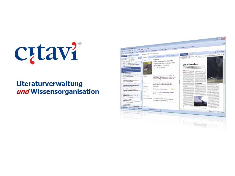 Fazit Citavi unterstützt den Prozess des wissenschaftlichen Arbeitens: erfassen, planen, studieren, strukturieren, publizieren.
