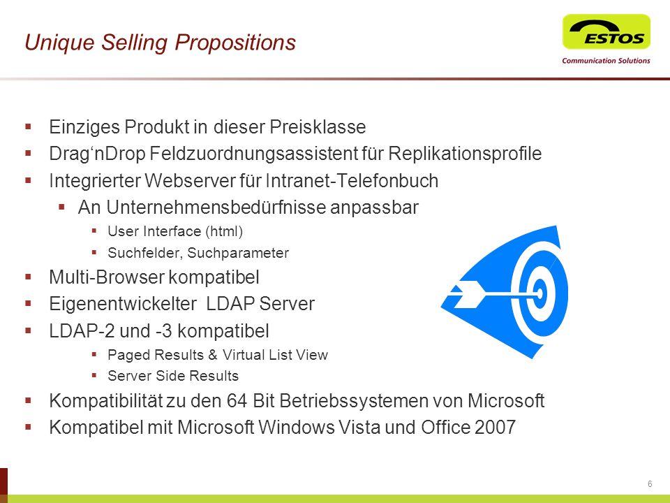 Unique Selling Propositions Einziges Produkt in dieser Preisklasse DragnDrop Feldzuordnungsassistent für Replikationsprofile Integrierter Webserver fü