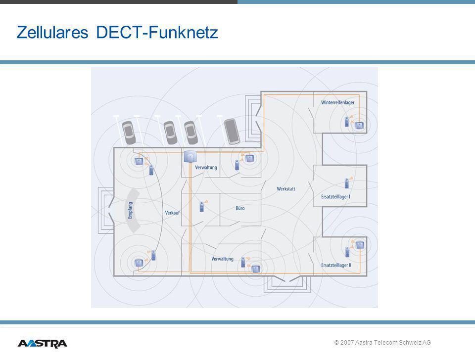 © 2007 Aastra Telecom Schweiz AG Zellulares DECT-Funknetz