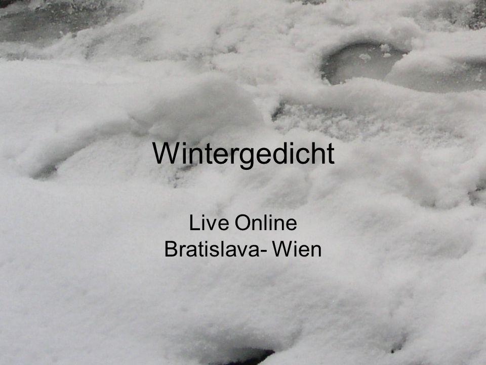 Wintergedicht Live Online Bratislava- Wien