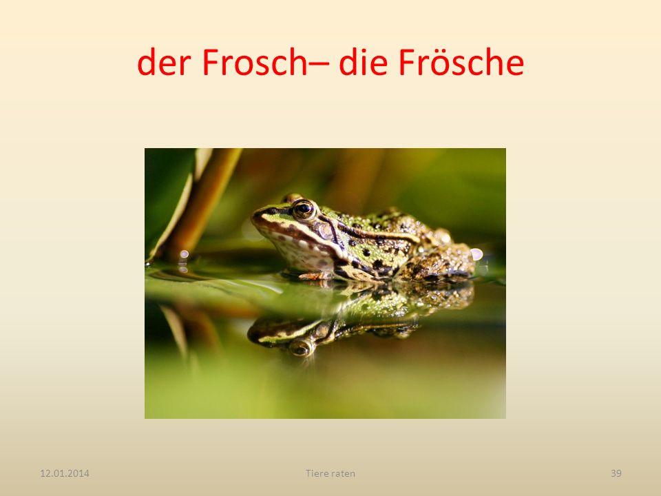 der Frosch– die Frösche 12.01.2014Tiere raten39