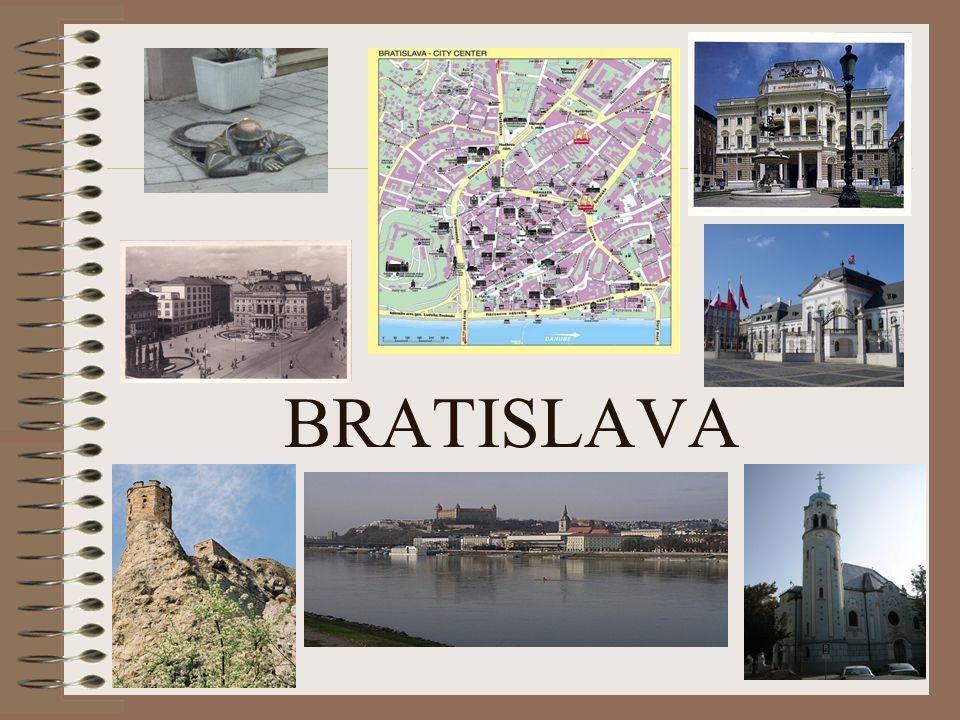 Bratislavaer Burg Die Burg ist das Wahrzeichen der Stadt.
