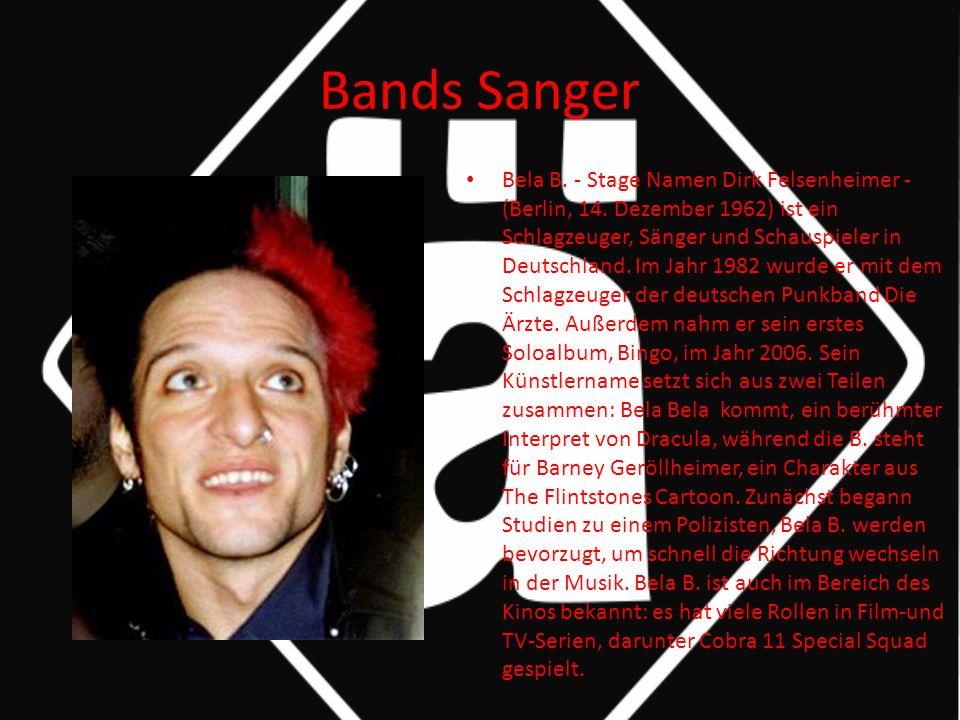 Bands Sanger Bela B. - Stage Namen Dirk Felsenheimer - (Berlin, 14.