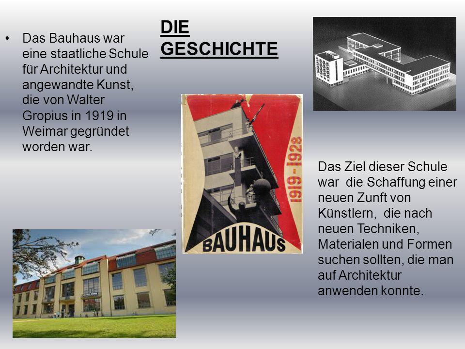 Die Kurse, die man im Bauhaus finden konnte, waren : Schreiner-, Weber-, Töpfer-, Mal-, Grafik- und Fotografiekurse.
