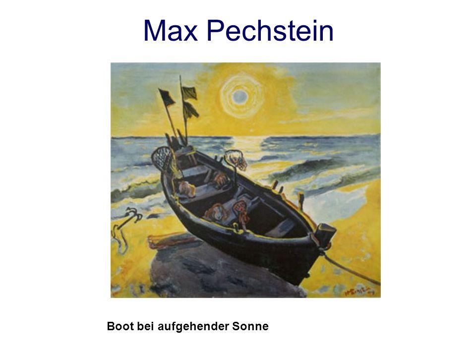Max Pechstein Boot bei aufgehender Sonne