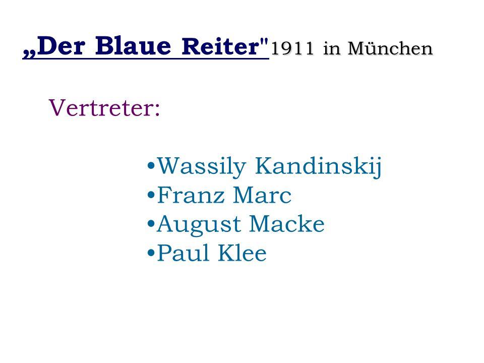 1911 in München Der Blaue Reiter