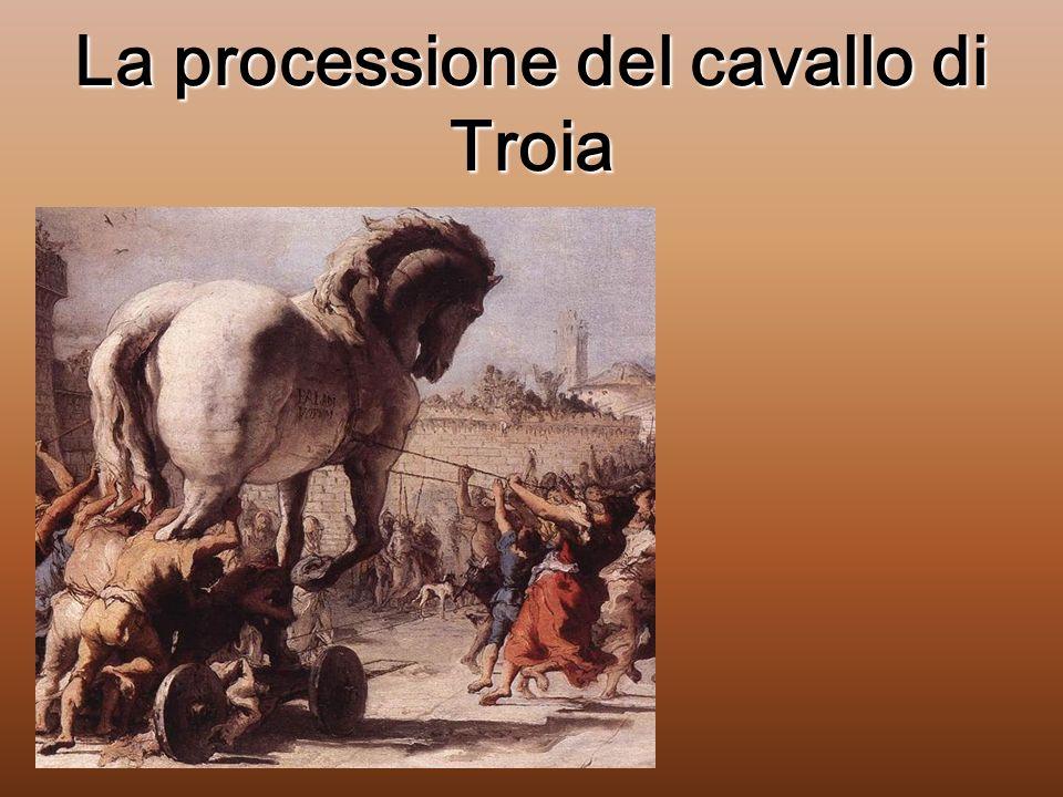 La processione del cavallo di Troia