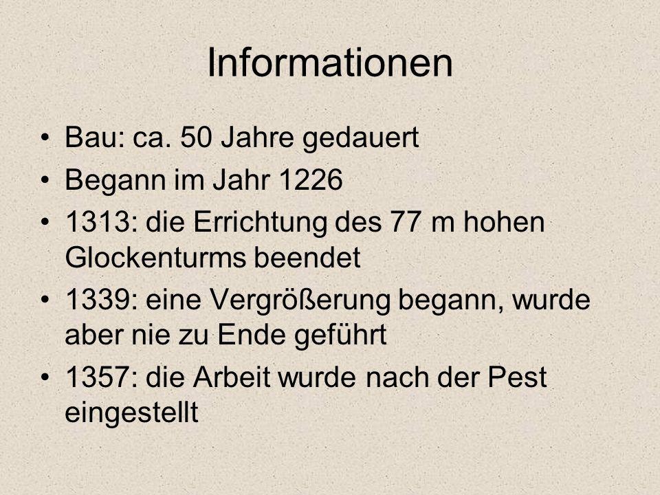 Informationen Bau: ca.