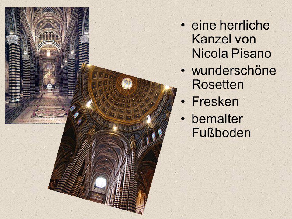 eine herrliche Kanzel von Nicola Pisano wunderschöne Rosetten Fresken bemalter Fußboden
