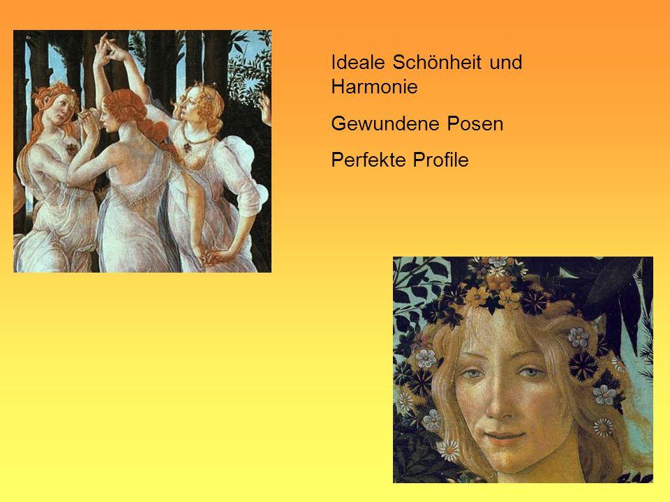 Ideale Schönheit und Harmonie Gewundene Posen Perfekte Profile