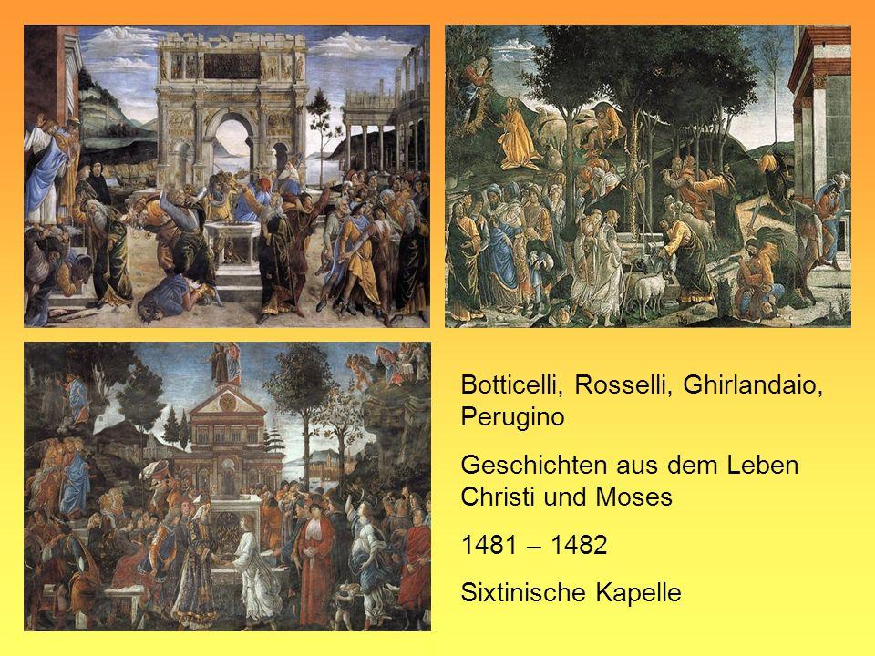 Botticelli, Rosselli, Ghirlandaio, Perugino Geschichten aus dem Leben Christi und Moses 1481 – 1482 Sixtinische Kapelle