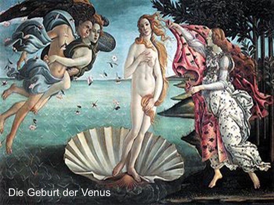 Gemalt in Tempera auf Leinwand 1482 – 1485 Florenz, Galleria degli Uffizi Symbol Klassisches Modell der Venus pudica Venus Zephyrus mit der Nymphe Cloris Ora Rosen und Myrten