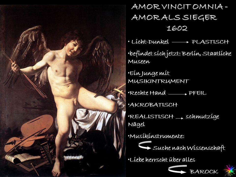 AMOR VINCIT OMNIA - AMOR ALS SIEGER Licht-Dunkel PLASTISCH befindet sich jetzt: Berlin, Staatliche Museen Ein Junge mit MUSIKINTRUMENT Rechte Hand PFE