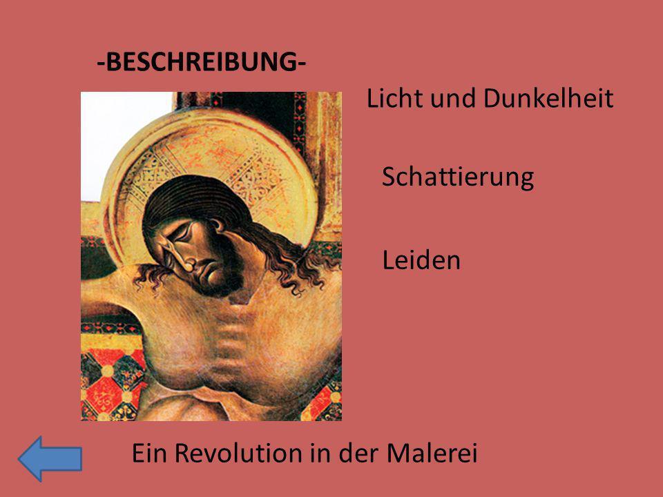 -BESCHREIBUNG- Licht und Dunkelheit Schattierung Ein Revolution in der Malerei Leiden